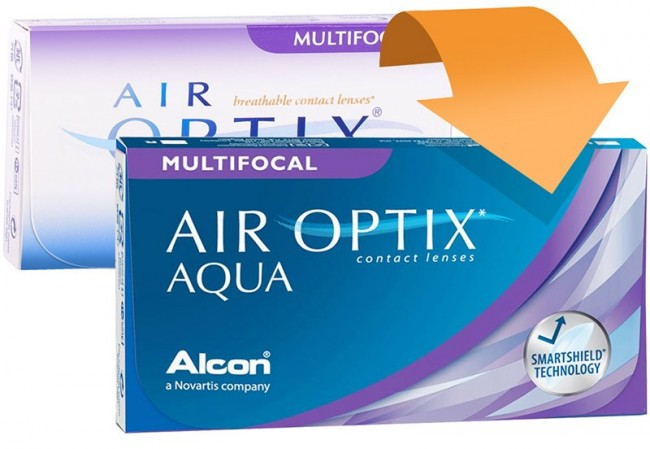 Alcon Air Optix Aqua Multifocal 1x3